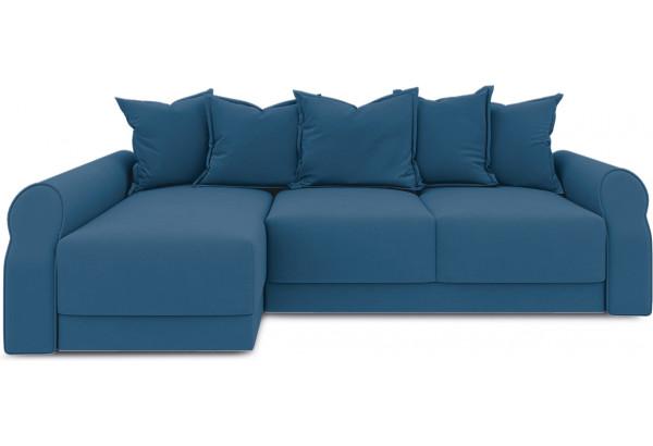 Диван угловой левый «Люксор Т2» Beauty 07 (велюр) синий - фото 2