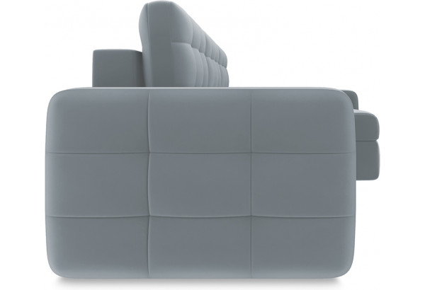 Диван угловой правый «Райс Slim Т2» Kolibri Silver (велюр) серый - фото 5