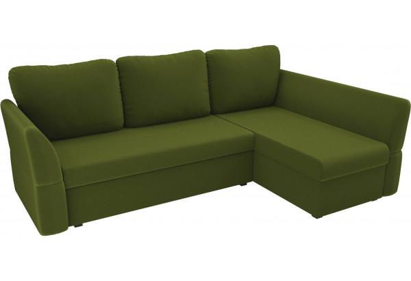 Угловой диван Гесен Зеленый (Микровельвет) - фото 4