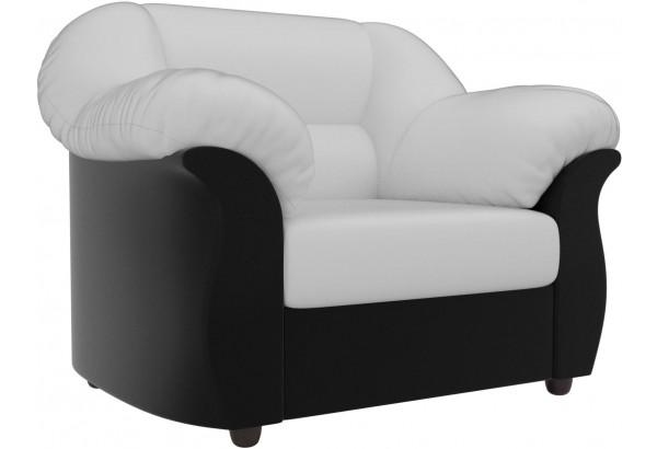Кресло Карнелла Белый/Черный (Экокожа) - фото 1