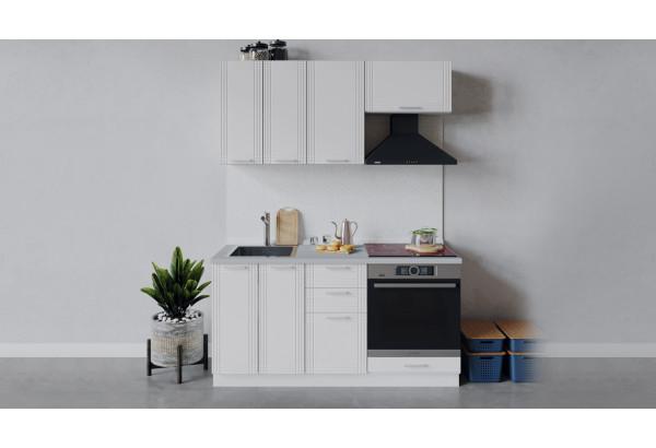 Кухонный гарнитур «Ольга» длиной 160 см со шкафом НБ (Белый/Белый) - фото 1