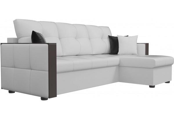 Угловой диван Валенсия Белый (Экокожа) - фото 3