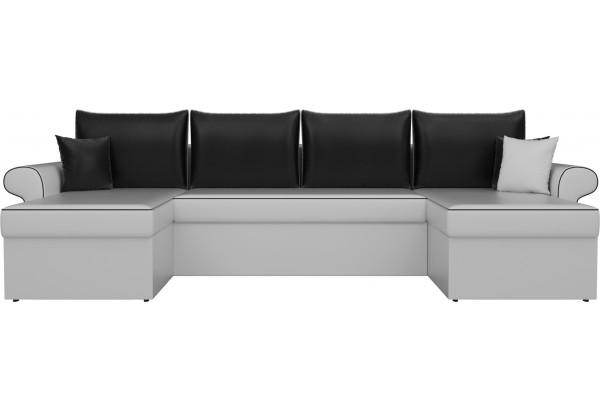 П-образный диван Милфорд Белый/Черный (Экокожа) - фото 2