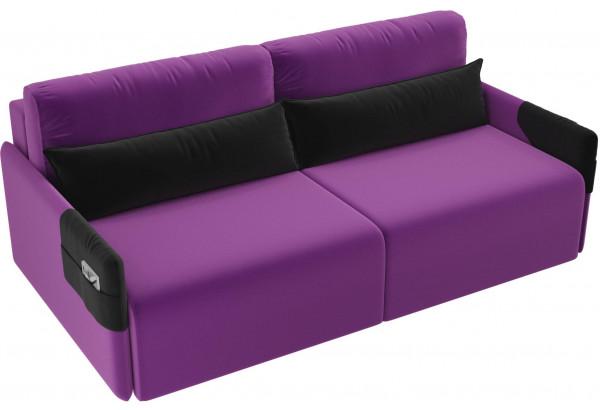 Прямой диван Армада Фиолетовый/Черный (Микровельвет) - фото 4
