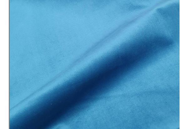 Угловой диван Карнелла голубой/черный (Велюр/Экокожа) - фото 6