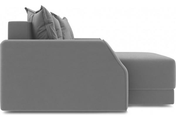 Диван угловой левый «Люксор Slim Т1» (Galaxy 02 (велюр) бежевый) - фото 5