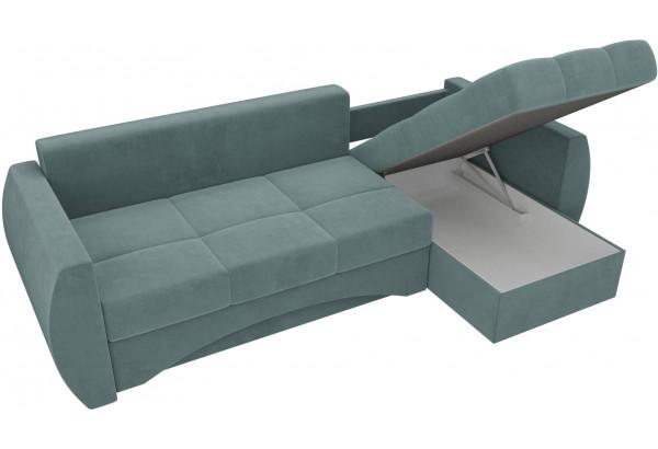Угловой диван Сатурн бирюзовый (Велюр) - фото 5
