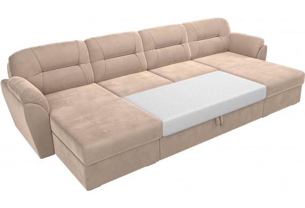 П-образный диван Бостон Бежевый (Велюр) - фото 7