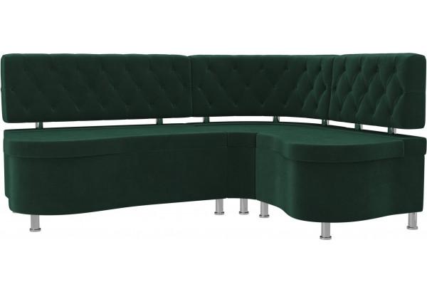 Кухонный угловой диван Вегас Зеленый (Велюр) - фото 1