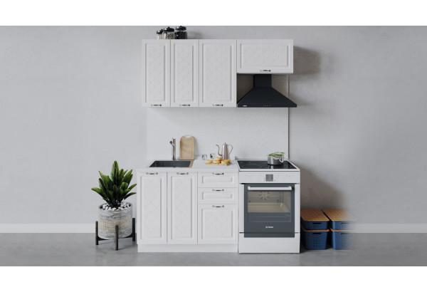 Кухонный гарнитур «Бьянка» длиной 160 см (Белый/Дуб белый) - фото 1