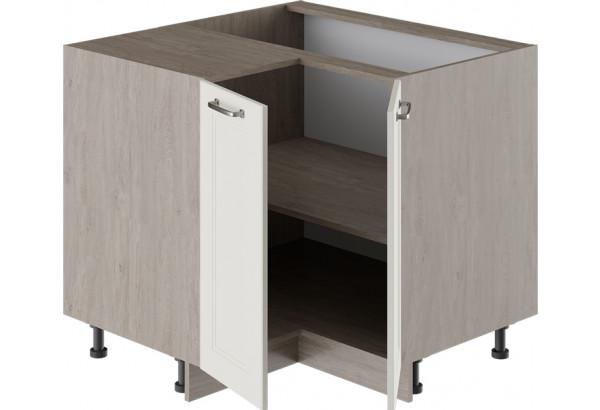 Шкаф напольный угловой с углом 90° ОДРИ (Бежевый шелк) - фото 2