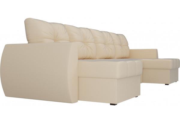 П-образный диван Сатурн Бежевый (Экокожа) - фото 3