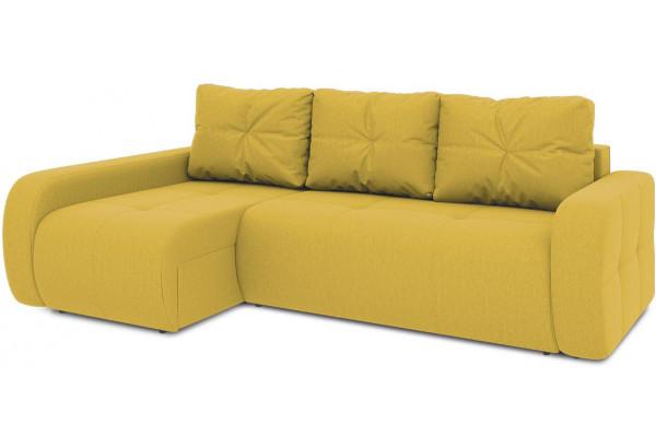Диван угловой левый «Томас Т2» (Poseidon Curcuma (иск.замша) желтый) - фото 1