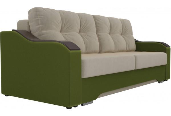 Прямой диван Браун бежевый/зеленый (Микровельвет) - фото 3