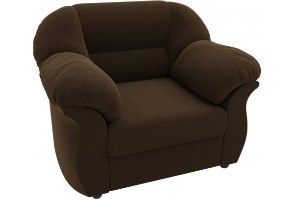 Кресло Карнелла Коричневый (Микровельвет) - фото 4