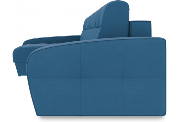 Диван угловой левый «Аспен Т2» Beauty 07 (велюр) синий - фото 3