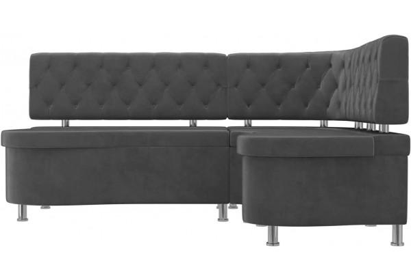 Кухонный угловой диван Вегас Серый (Велюр) - фото 2
