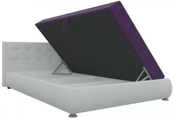 Тахта - кровать Рио Фиолетовый/Белый (Микровельвет) - фото 3
