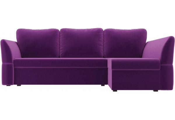 Угловой диван Гесен Фиолетовый (Микровельвет) - фото 2