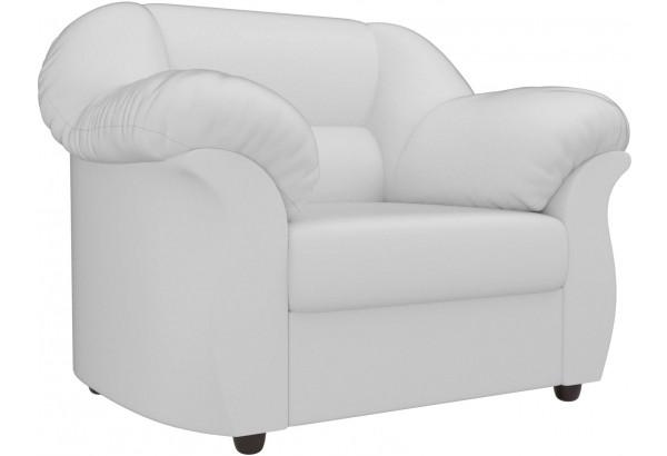 Кресло Карнелла Белый (Экокожа) - фото 1