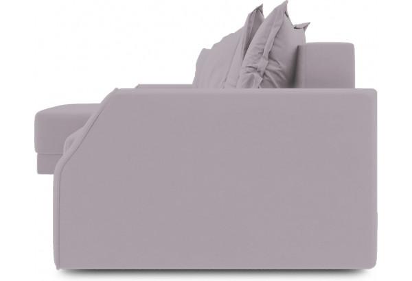 Диван угловой левый «Люксор Slim Т1» (Poseidon Pale Lavender (иск.замша) бледно-лавандовый) - фото 3