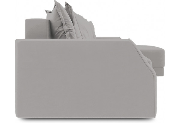 Диван угловой правый «Люксор Slim Т1» Galaxy 06 (велюр) серый - фото 3