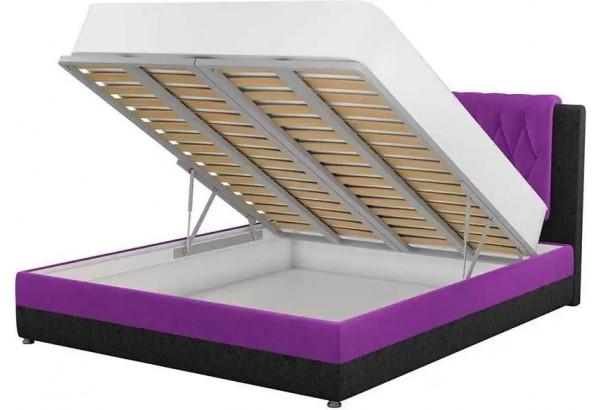 Интерьерная кровать Камилла Фиолетовый/Черный (Микровельвет) - фото 2