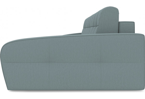Диван угловой правый «Аспен Т2» (Poseidon Lagoon (иск.замша) бледно-бирюзовый) - фото 4