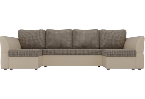 П-образный диван Гесен Корфу 03/коричневый (Корфу/экокожа) - фото 2