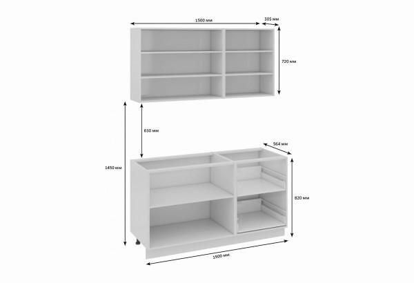 Кухонный гарнитур длиной - 210 см Фэнтези (Вуд) - фото 3