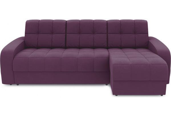Диван угловой правый «Аспен Т1» (Kolibri Violet (велюр) фиолетовый) - фото 2