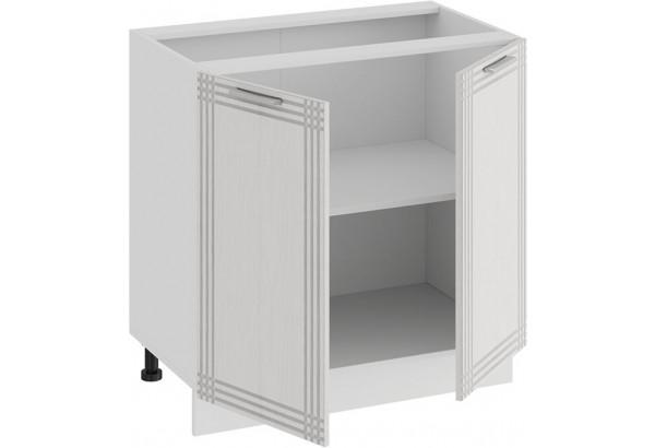 Шкаф напольный с двумя дверями «Ольга» (Белый/Белый) - фото 2