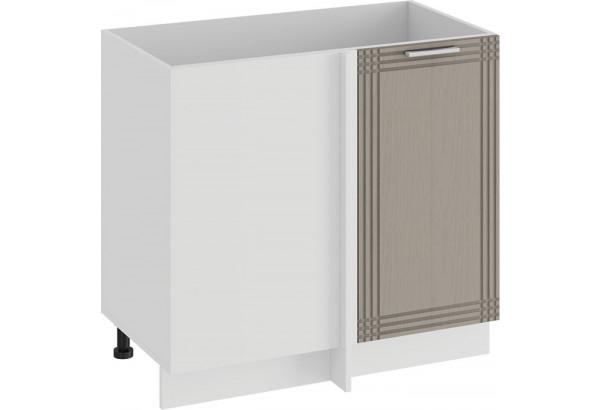 Шкаф напольный угловой «Ольга» (Белый/Кремовый) - фото 1