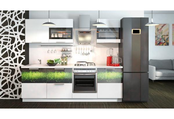 Кухонный гарнитур длиной - 240 см (со шкафом НБ) Фэнтези (Белый универс)/(Грасс) - фото 2