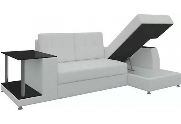 Угловой диван Атланта Белый (Экокожа) - фото 3