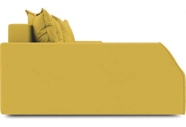 Диван угловой левый «Люксор Slim Т2» (Poseidon Curcuma (иск.замша) желтый) - фото 5