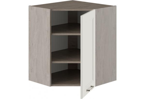 Шкаф навесной угловой с углом 45° ОДРИ (Бежевый шелк) - фото 2