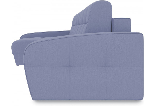 Диван угловой левый «Аспен Slim Т2» (Poseidon Blue Graphite (иск.замша) серо-фиолетовый) - фото 3