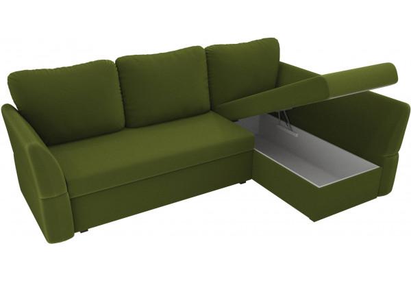 Угловой диван Гесен Зеленый (Микровельвет) - фото 5