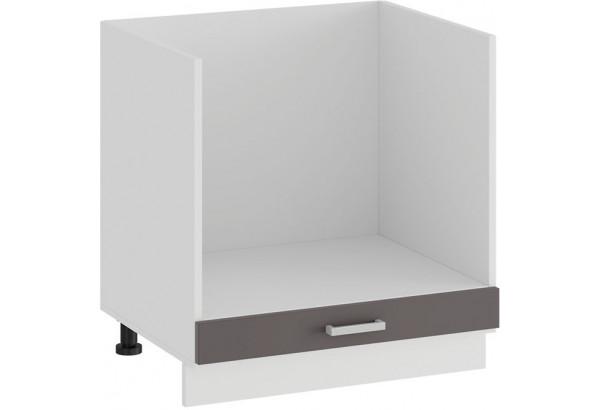 Шкаф напольный под бытовую технику «Долорес» (Белый/Муссон) - фото 1