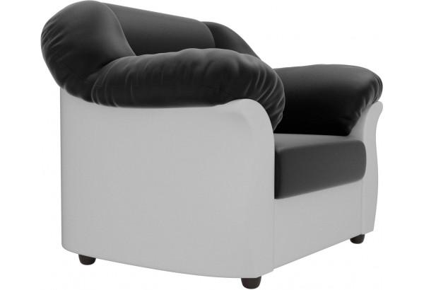 Кресло Карнелла Черный/Белый (Экокожа) - фото 4