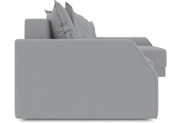 Диван угловой правый «Люксор Slim Т2» (Poseidon Grey (иск.замша) серый) - фото 3