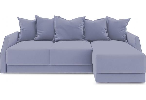 Диван угловой правый «Люксор Slim Т1» (Poseidon Blue Graphite (иск.замша) серо-фиолетовый) - фото 2