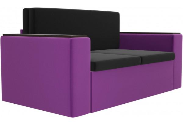 Детский диван Арси черный/фиолетовый (Микровельвет) - фото 3