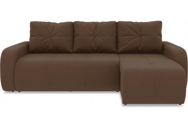 Диван угловой правый «Томас Т1» Beauty 04 (велюр) коричневый - фото 2