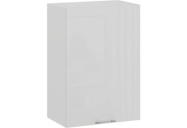 Шкаф навесной c одной дверью «Весна» (Белый/Белый глянец) - фото 1