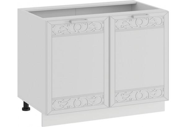 Шкаф напольный с двумя дверями «Долорес» (Белый/Сноу) - фото 1