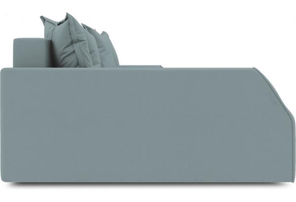 Диван угловой левый «Люксор Slim Т2» (Poseidon Lagoon (иск.замша) бледно-бирюзовый) - фото 5