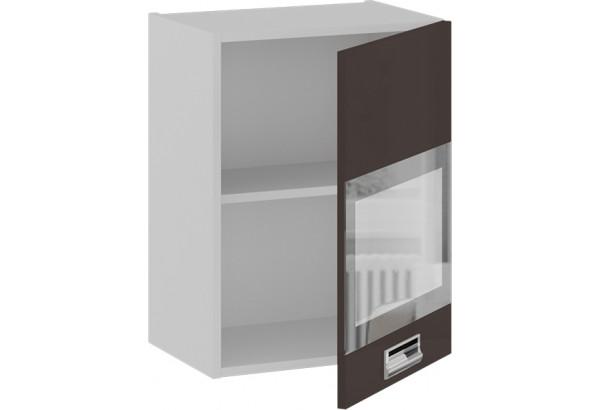 Шкаф навесной со стеклом (правый) (БЬЮТИ (Грэй)) - фото 2
