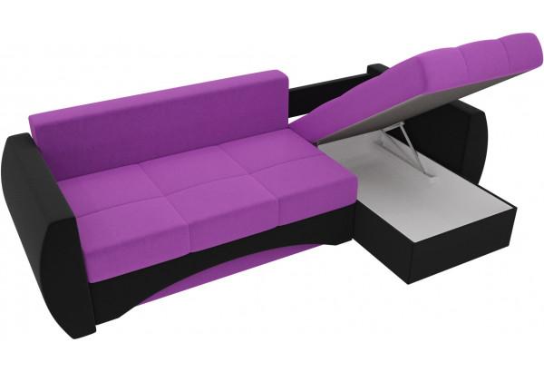 Угловой диван Сатурн Фиолетовый/Черный (Микровельвет) - фото 5